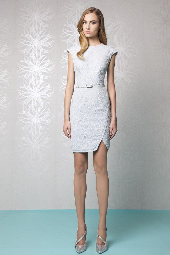 short silk white dresses