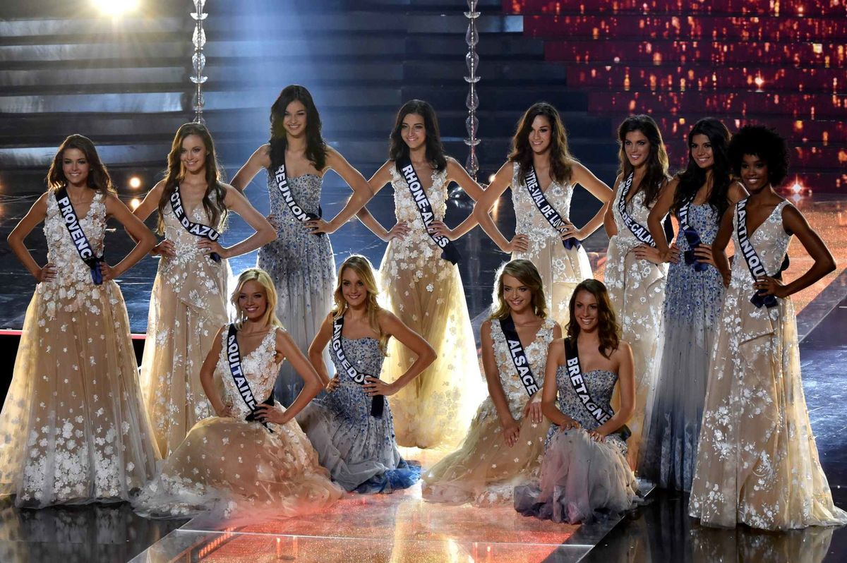 the 12 finalists of the miss france election dressed by. Black Bedroom Furniture Sets. Home Design Ideas