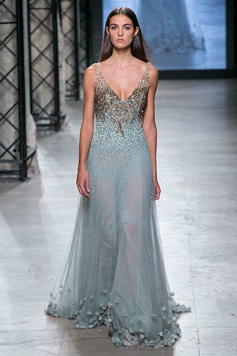 9. Camille, candidate of Elite Model Look France in Tony Ward Couture
