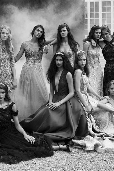 3- The 12 finalists of Elite Model Look France 2014 in Tony Ward Couture