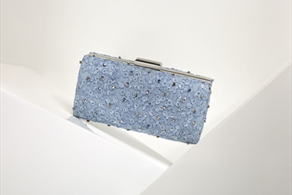 RTW Spring Summer 2018 - Light blue embroidered Clutch
