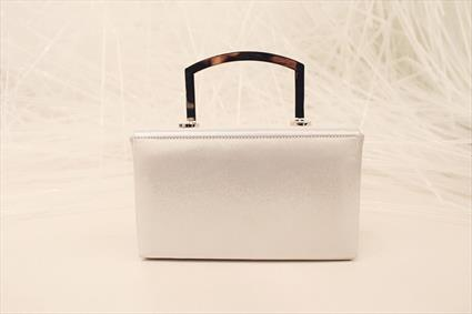 Silver-tone Leather Bag