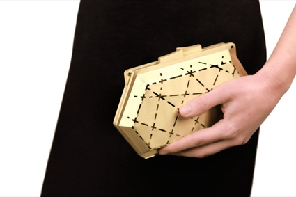 White sur White for Tony Ward - Gold Clutch
