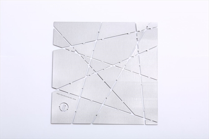 White sur White for Tony Ward Modular Plate - Stainless Steel