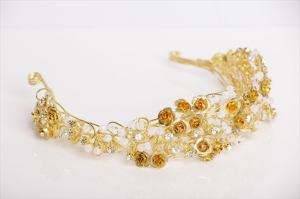 Foliage by Tony Ward - Gold Metal Tiara