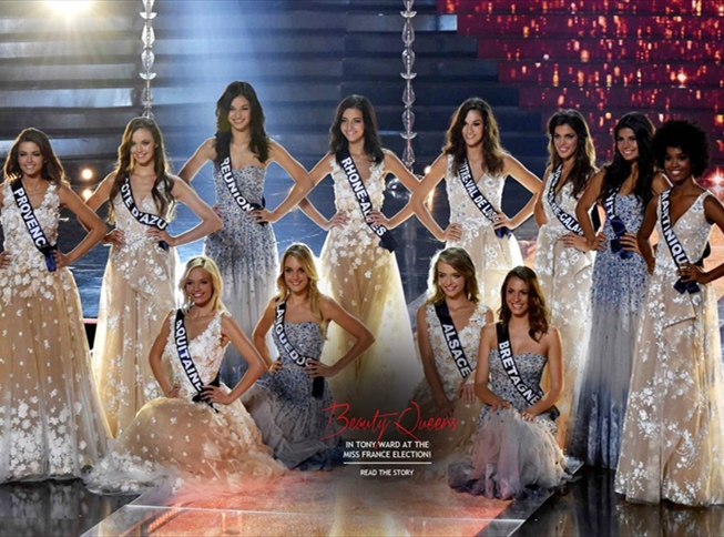 The 12 finalists of the Miss France Election dressed by Tony Ward